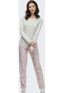 Pijama Manga Longa Cinza