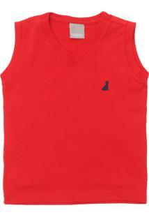 Regata Carinhoso Menino Logo Vermelho 4288a94b95f
