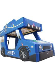 Beliche Safari - Cama Carro Do Brasil Azul