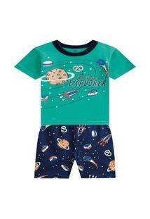 Pijama Infantil Menino Brandili Explorador Hora De Dormir