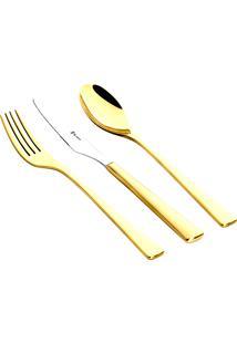 Faqueiro New Silhouette Dourado St.James - 101 Peças