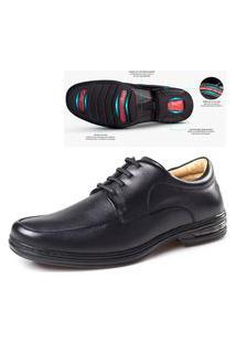 Sapato Confort Em Couro Rafarillo Confortavél Com Cadarço