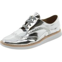 cb60d8495d Clóvis Calçados. Sapato Feminino Oxford Prata Vizzano ...