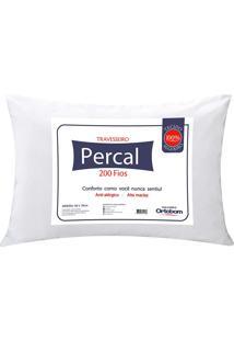 Travesseiro Percal 200 Fios Plus - Ortobom Branco