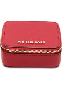 Michael Michael Kors Nécessaire De Couro Com Logo - Vermelho