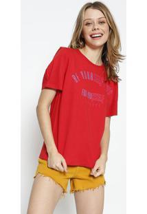 Camiseta ''Be Yourself'' - Vermelha - Colccicolcci