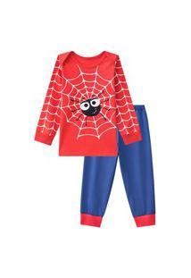 Pijama Manga Longa Bebê - Super Herói Aranha Veggi