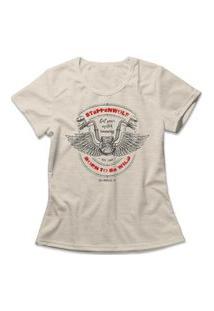 Camiseta Feminina Steppenwolf Born To Be Wild Bege
