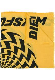 Diesel Echarpe 'S-Teo' - Amarelo E Laranja