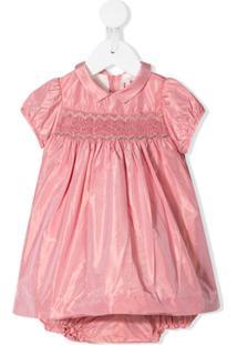 Bonpoint Vestido Mangas Curtas - Rosa