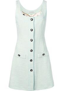 be1c4755b Alessandra Rich Vestido De Tweed Sem Mangas - Green