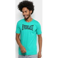 1206fa8626 Camiseta Everlast Logo Masculina - Masculino-Verde+Azul