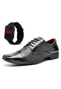 Sapato Social Com Relógio Led Dubuy 707Mr Preto