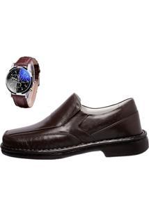 c21e24f1fc8 Sapato Social + Relógio Asa Shoes 1751 Café