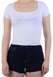 Blusa Billabong Baby Look Halfway There - Branco / P