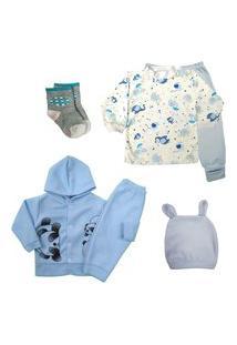 Roupinhas De Bebê Kit 6 Pçs Bebê Confortável Bonito Enxoval Azul