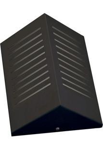 Arandela Triangular Com Rasgo Vertical 6133 12X09X23 1 Lâmpada Preta Pantoja&Carmona