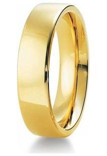 Aliança De Casamento Masculina Em Ouro 18K 750 6Mm Anatômica Wm Jóias - Masculino