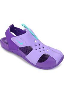 Sandália Infantil Nike Sunray Protect 2 - Masculino-Lilás