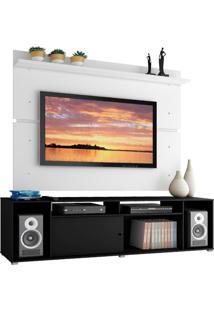 Rack Madesa Cancun E Painel Para Tv Até 65 Polegadas - Preto/Branco Preto