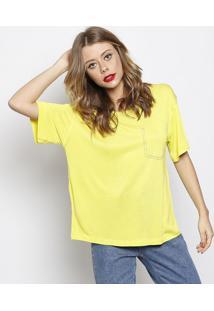 Camiseta Com Pespontos - Amarela - Forumforum