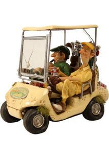 Escultura Decorativa De Resina O Carro De Golf