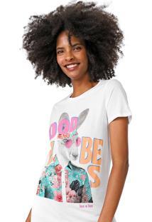 Camiseta Lez A Lez Good Vibes Branca