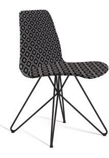 Cadeira De Jantar Eames Butterfly Preto E Preto