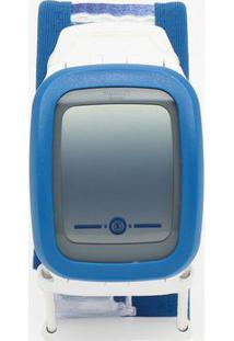 Relógio Digital Listrado Suvw102B- Azul & Branco- Swswatch