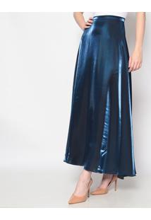 Saia Longa Holográfica- Azul Marinho- Lily Daisylily Daisy