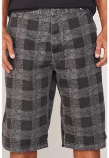 Bermuda Hd Plus Size Walkshort Masculino - Masculino-Cinza