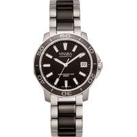 4213ee7bd1b Relógio Vivara Feminino Aço Prateado E Preto - Ds13155R2E-1