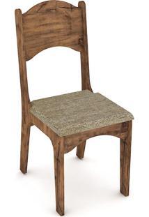 Cadeira Nina Chenille Marrom Nobre Fosco | Chenille Marrom