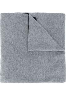 Moschino Cachecol De Tricô Com Padronagem - Cinza