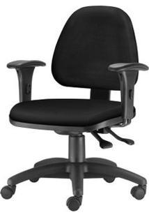 Cadeira Sky Com Bracos Assento Crepe Preto Base Nylon Arcada - 54799 Sun House