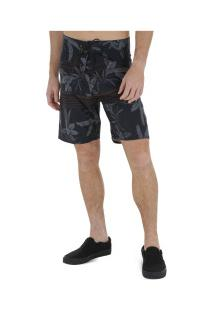 Bermuda Hang Loose Leaves - Masculina - Preto