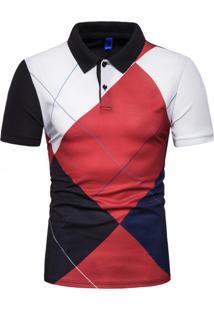 Camisa Polo Royal Clube - Vermelho