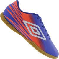 d718a27d16 Centauro. Chuteira Futsal Umbro Hit Ic - Adulto - Azul Branco