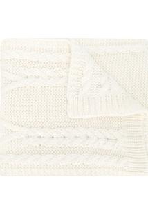 Moncler Cachecol De Lã Mista - Branco