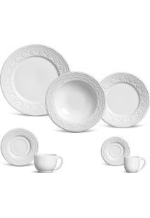 Aparelho De Jantar 42 Peças Madeleine - Unissex-Branco