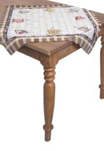 Toalha De Mesa Quadrada Lepper Decorativo Catarina 75 Cm X 75 Cm