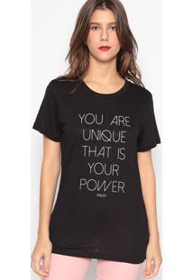 """Camiseta """"You Are""""- Preta- Colccicolcci"""