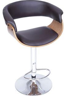 Banqueta Barcelona- Café & Marrom- 109X60X40Cm- Or Design