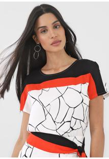 Camiseta Forum Estampada Off-White/Laranja