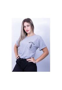 Camiseta Bilhan Corte A Fio Oxalá Cinza