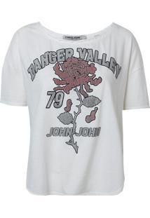 Camiseta John John Valley Malha Off White Feminina (Off White, P)