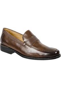 Sapato Social Sandro & Co. Loafer Moscolini Masculino - Masculino-Marrom-Claro