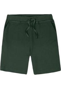 Bermuda Moletom Básica Masculina Com Amarração - 05K31Aen4 - Masculino-Verde Militar