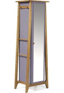 Sapateira Stoka Com Espelho Nogal E Lilás