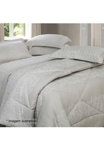 Edredom Renda King Size - Bege & Branco - 250X290Cmsultan